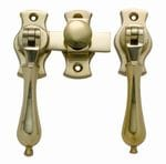French Door Fastener Polished Brass