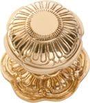 Centre Door Knob Polished Brass1303