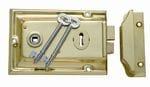 Rim Lock Polished Brass2002