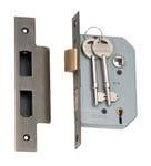 5 Lever Mortice Lock Antique Brass 46mm