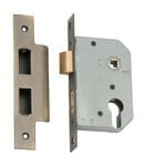 Euro Mortice Lock Antique Brass2152