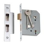 5 Lever Mortice Lock Chrome 57mm2167