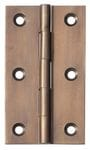 Hinge - Fixed Pin Antique Brass 89mm x 50mm