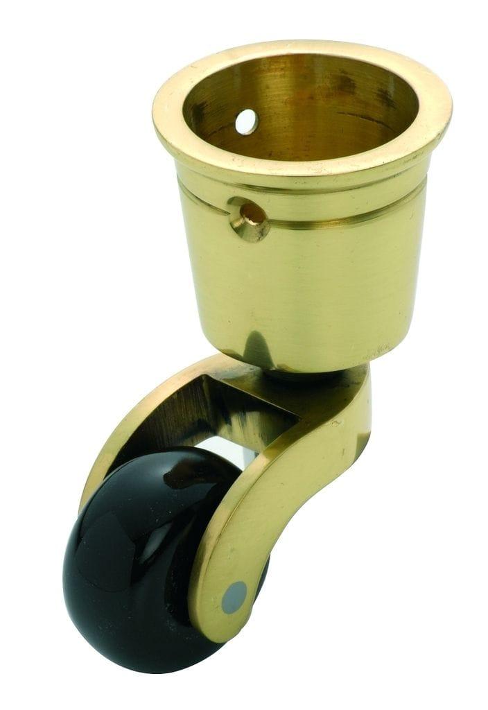 Cup Castor Brown Porcelain/Polished Brass 32mm3512
