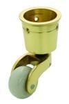 Cup Castor White Porcelain/Polished Brass 29mm3515