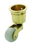 Cup Castor White Porcelain/Polished Brass 32mm3516