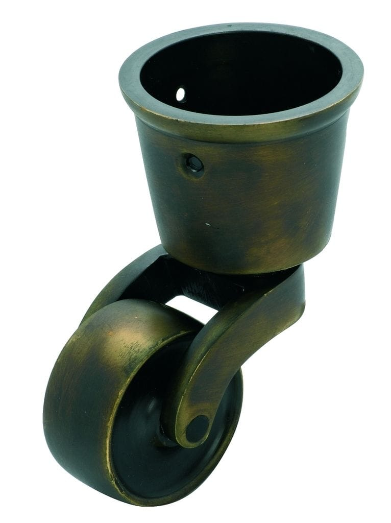 Cup Castor Antique Brass 38mm3536