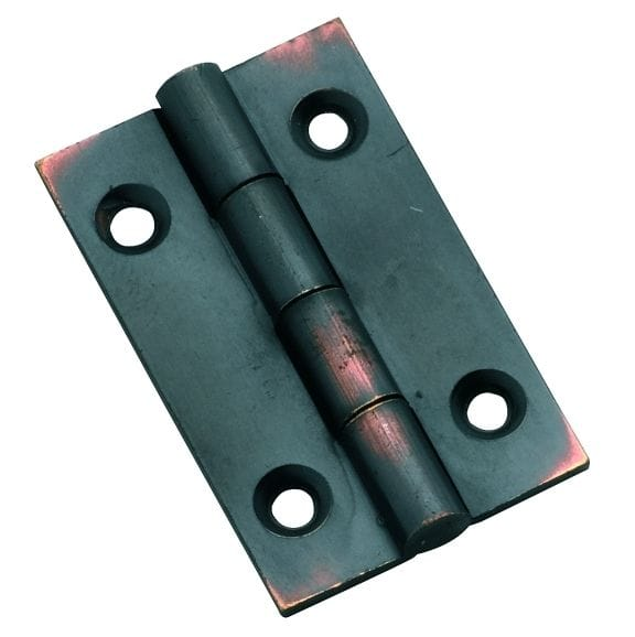 Hinge - Fixed Pin Antique Copper 38mm x 22mm3744