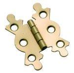 Fancy Hinge Polished Brass 29mm x 41mm3765