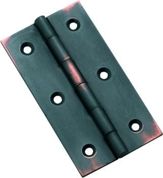 Hinge - Fixed Pin Antique Copper 76mm x 41mm3794