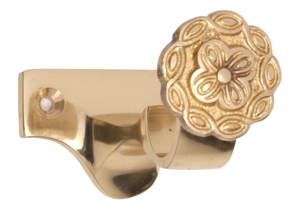 Curtain Bracket - Centre Polished Brass4601