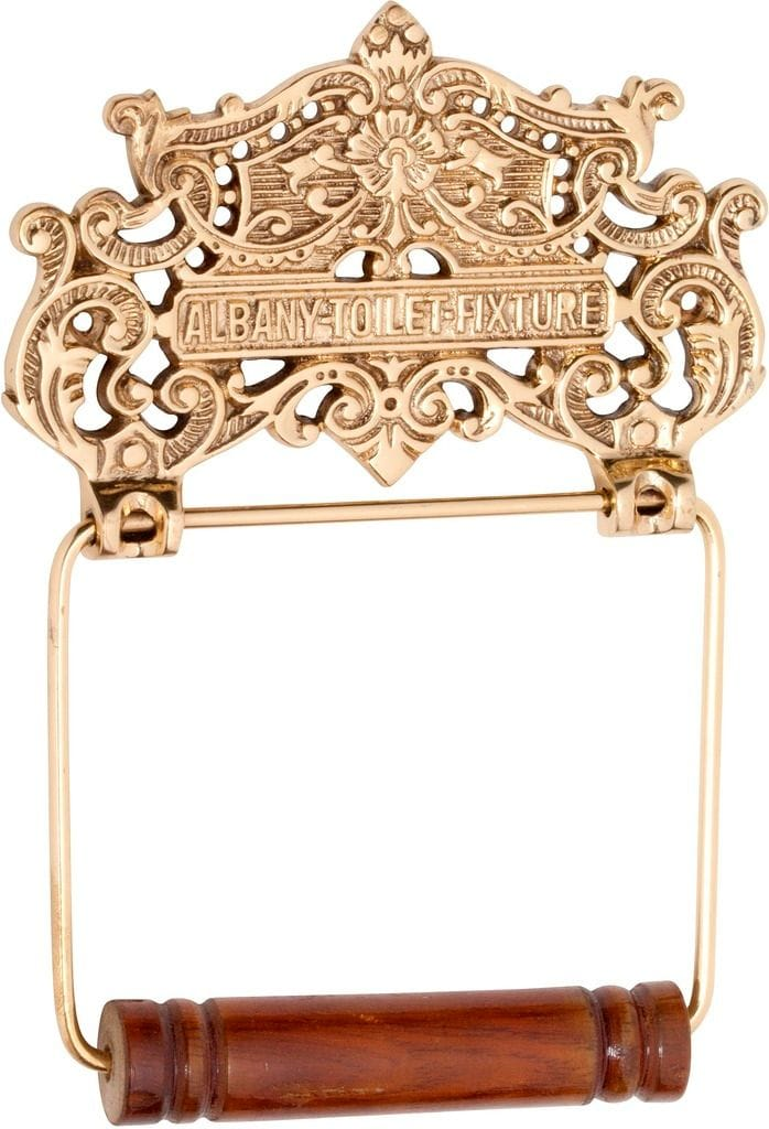 Albany Toilet Roll Holder Polished Brass4880