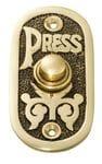 Bell Push Polished Brass/Black Background