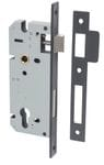85mm Euro Lock Backset 45mm Matt Black0173