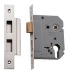 Euro Lock Polished Nickel 57mm0268