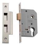 Euro Lock Satin Nickel 46mm0275