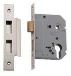 Euro Lock Satin Nickel 57mm0276