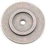 Backplate Rumbled Nickel 25mm0457
