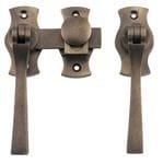 French Door Fastener - Square Antique Brass0478