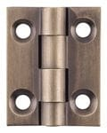 Hinge - Fixed Pin Antique Brass 25mm x 22mm