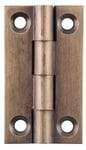 Hinge - Fixed Pin Antique Brass 38mm x 22mm