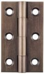Hinge - Fixed Pin Antique Brass 50mm x 28mm