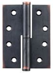 Hinge - Left Hand Lift Off Antique Copper 100mm x 75mm2596