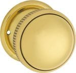 Mortice Knob Small Milled Edge Polished Brass