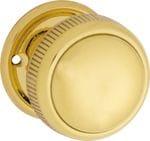Mortice Knob Large Milled Edge Polished Brass