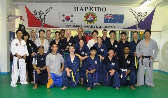 24th August 2004 - Our first Hapkido Martial Arts Class