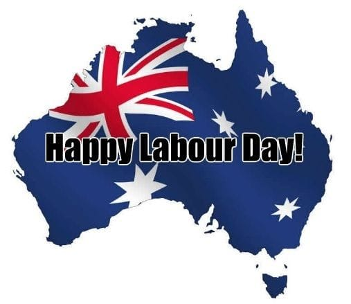 Labour Day Public Holiday - Monday 1 October