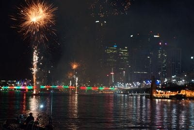 New Year's Eve on Lady Brisbane