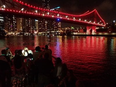 Brisbane River by night, Story Bridge
