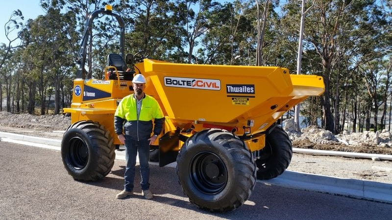 Thwaites 9T Site Dumper delivered to Bolte Civil