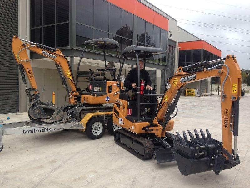 2 CX18B excavators delivered to Top Hire Tools