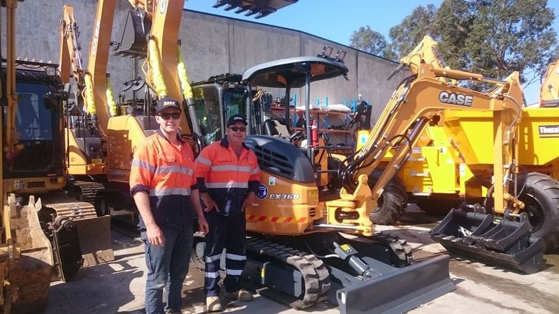 CX36 delivered to National Rock Sawing