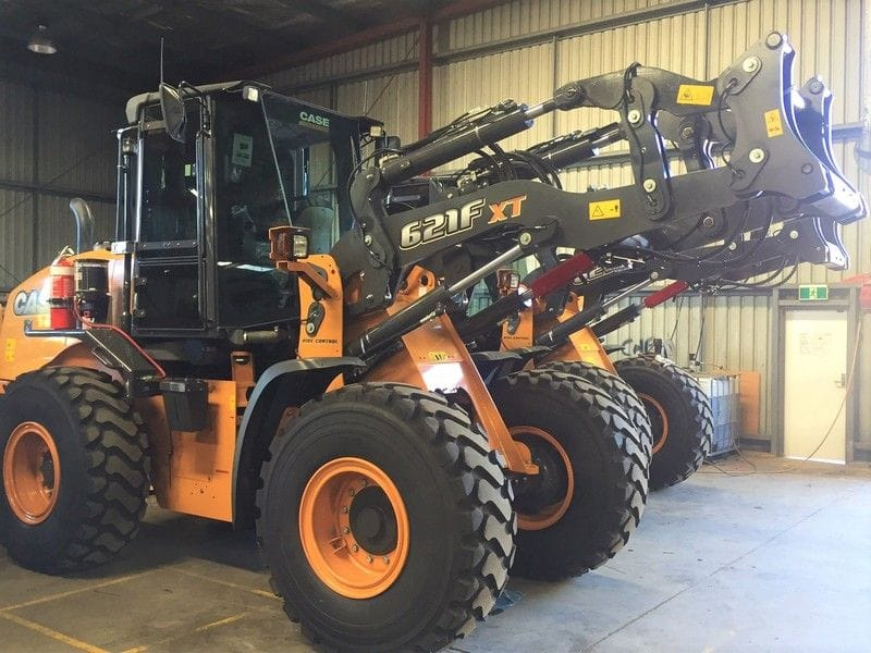 Delivering 2 new Case 621F XT Loaders