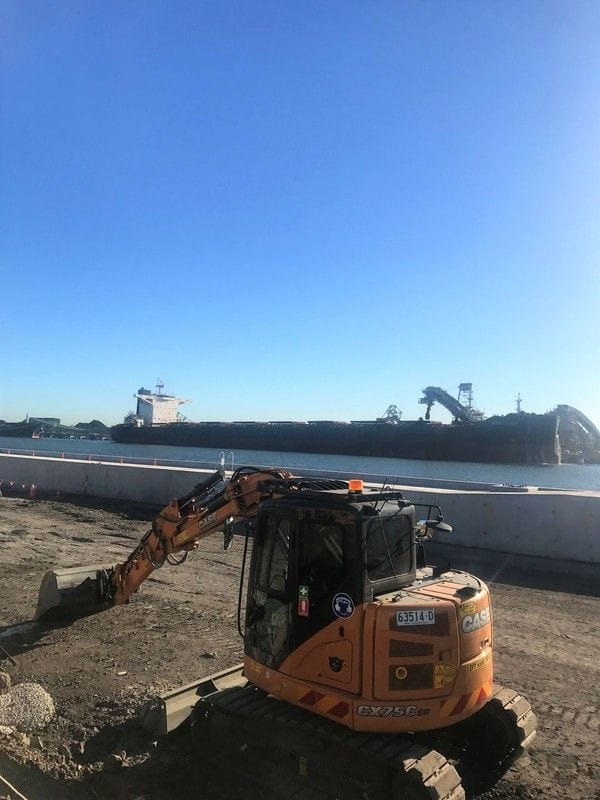 #casespotted on site at Newcastle Port