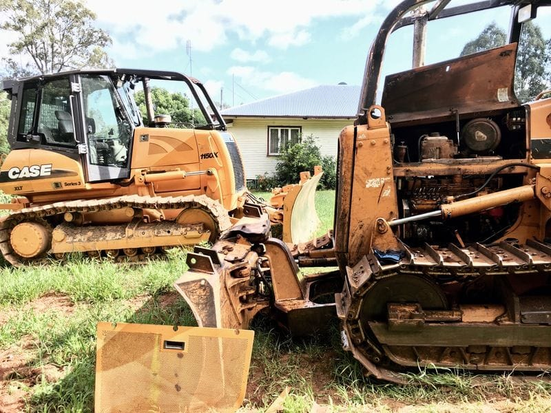 A Couple Of Old Dozers