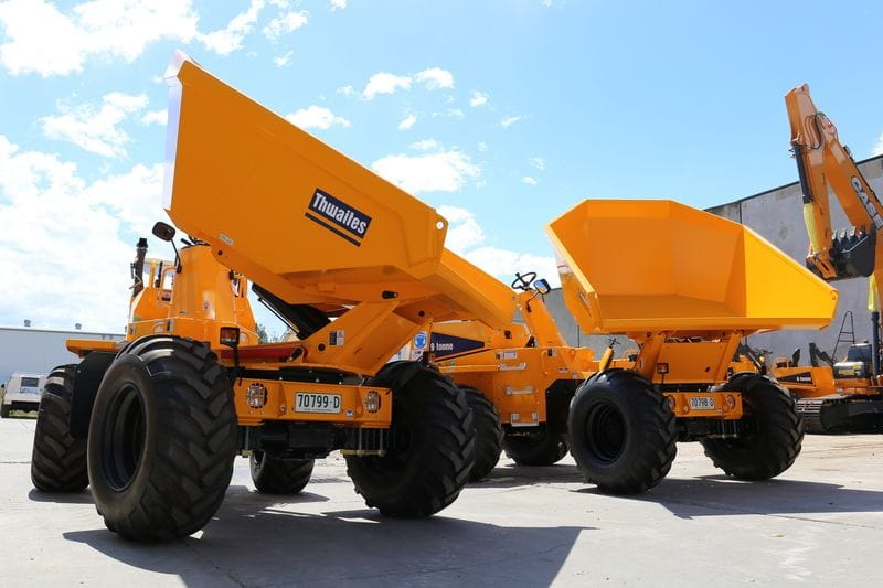 Two 9T Thwaites Dumpers to Greater West Landscapes!