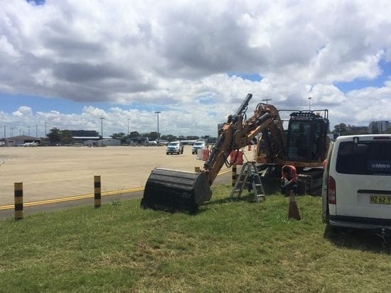 Servicing on site at Sydney Airport