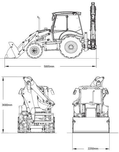 Case 590ST Backhoe