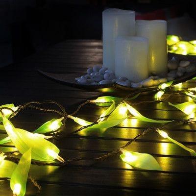Chain Electric Gum Leaf Green LED