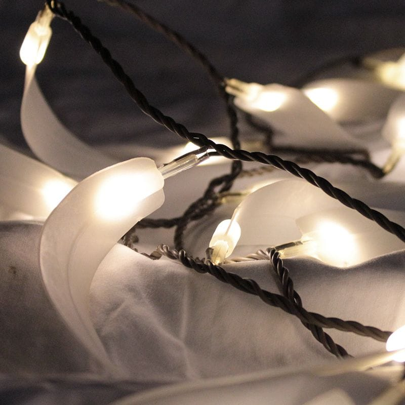 Chain Electric Leaf White LED