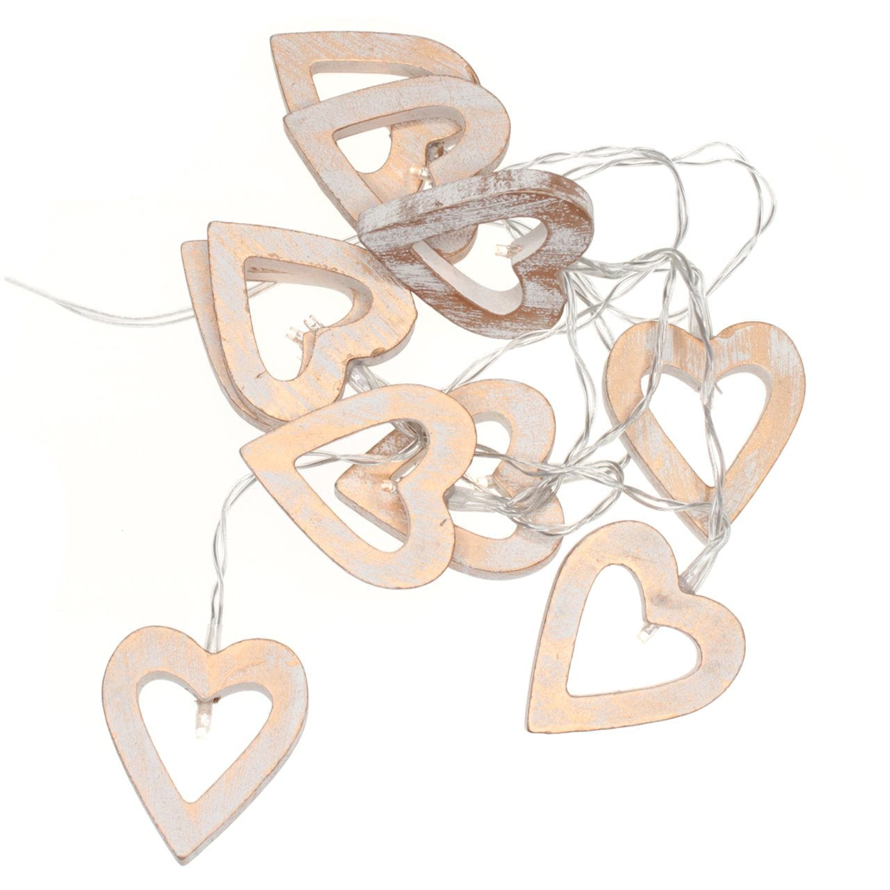 Chain Battery Wooden Heart