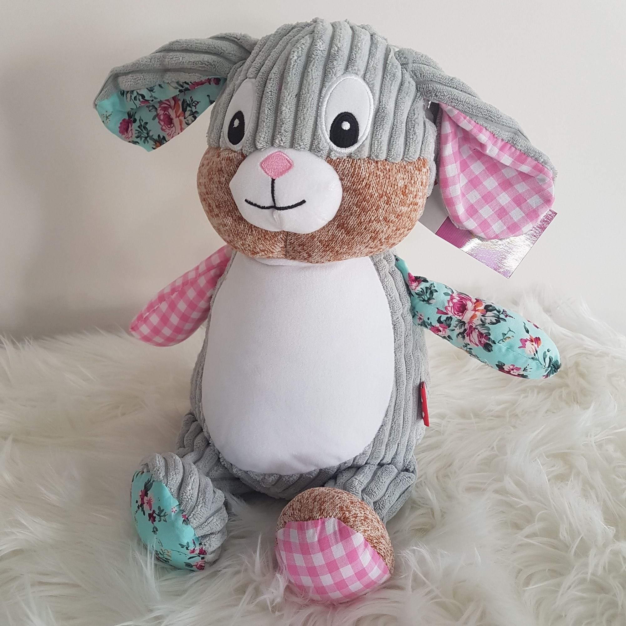 Cubby - Harlequin Pink Bunny