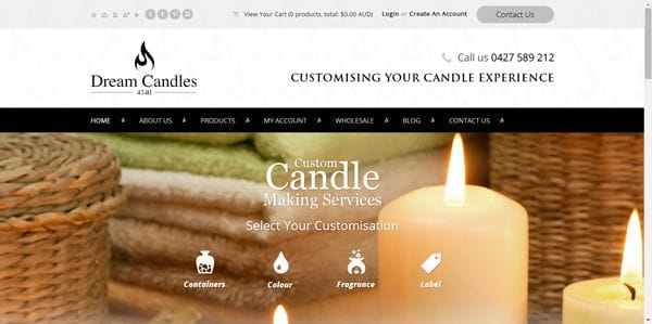 Dream Candles Excited for New Website Launch