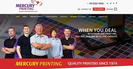 New Website Launched for Mercury Printing