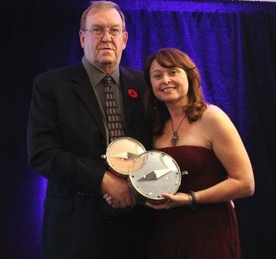 2015 Master Mentor Gary Ritchie, and Gina O'Rourke-McKay of NB-MAP