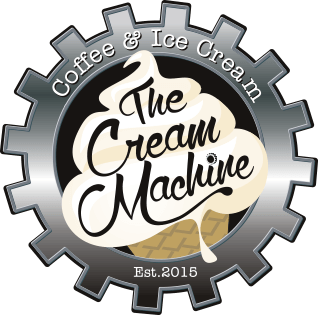 the cream machine, ice cream and coffee